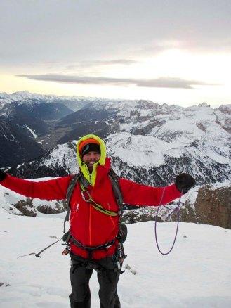 Armin häppy am Gipfel